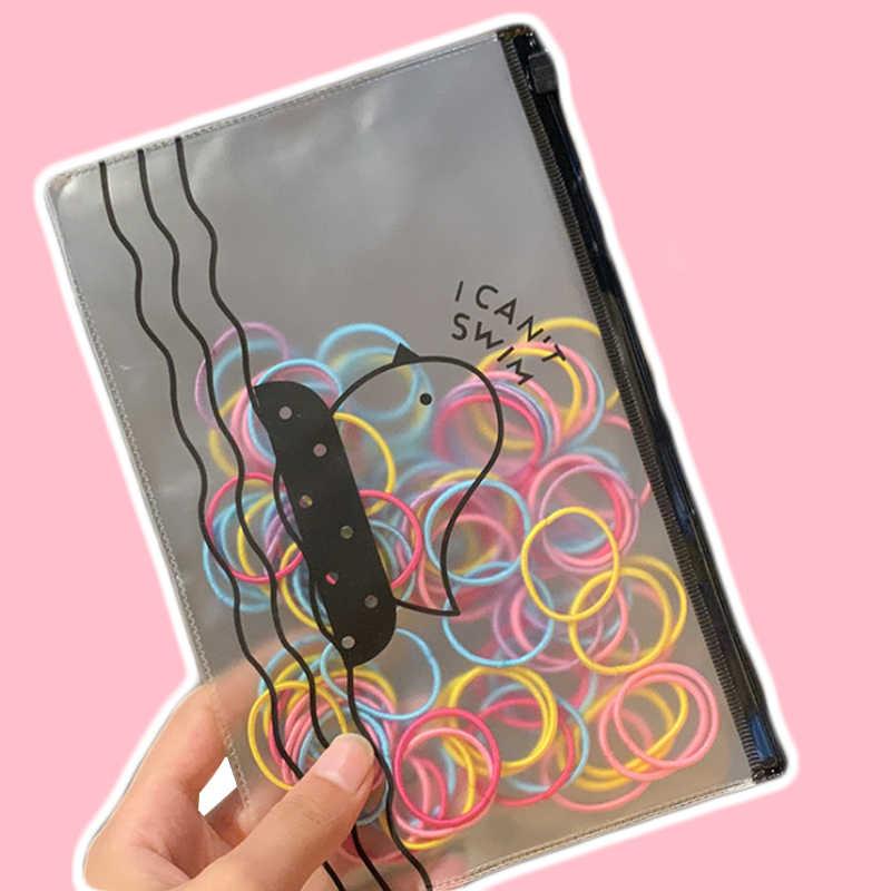 100 pçs/lote bonito crianças hairbands mini faixas de cabelo para meninas elástico elástico elástico elástico faixa de cabelo scrunchy bebê meninas goma acessórios de cabelo