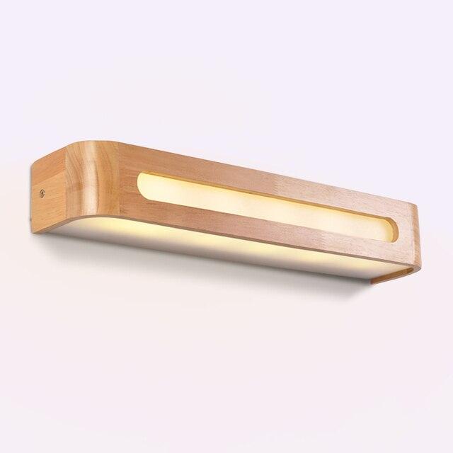 Moderne Japanse Stijl Eiken Houten Wandlamp - Led 220V 1