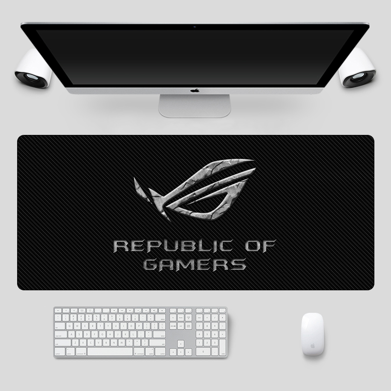 Image 5 - Fashion 90x40cm Large ASUS Gaming Mousepad  Republic Of Gamers Keyboard Pad  Locking Edge Rubber Laptop Notebook Desk MatMouse Pads   - AliExpress