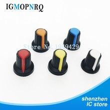 30 PÇS/LOTE WH148 knob 15X17mm AG2 tipo potenciômetro botão de plástico botão do amplificador de potência 5 cor