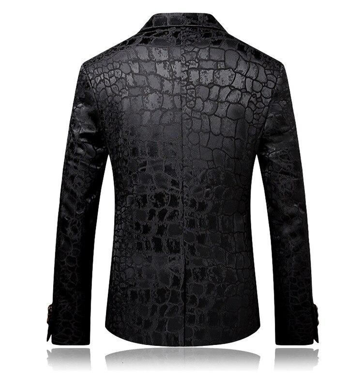 Pyjtrl tendência masculina qualidade moda casual jacquard