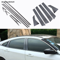 Car Stainless Steel Door Window Middle Column Trim Decoration Protection strip For Honda Civic 10th 2016 2017 2018 Accessories