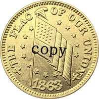 Copia de monedas de la guerra Civil de EE. UU. N. ° 9, 1863