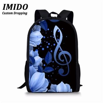 цена на IMIDO Music Piano Backpack for Women Casual Daypack Teenager Girls Boys School Bags Ladies Travel Backpack Satchel Book Bag 2019