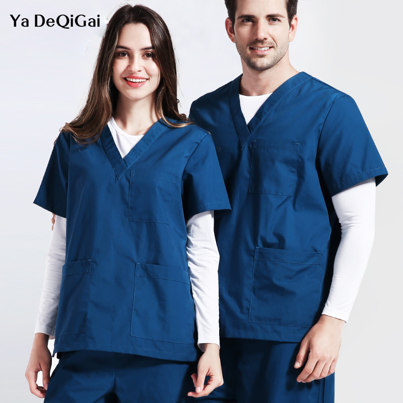 New Men&women Dentistry Scrub Sets Medical Surgical Pharmacy Doctor Nurse Uniform Beauty Salon Sets Spa Uniform Medical Clothing