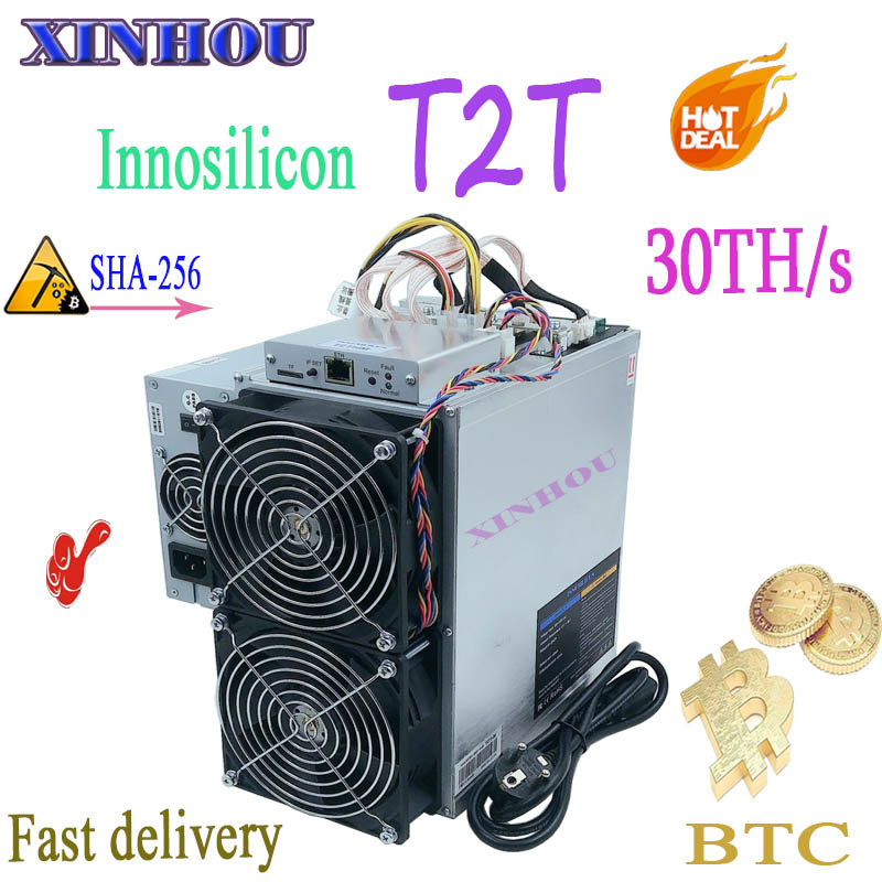 Nuovo asic minatore Innosilicon T2T 30TH/s SHA256 BTC BCH Bitcoin Minatore Meglio di Antminer S9 S17 T17 S15 z11 WhatsMiner M10 M3 E10