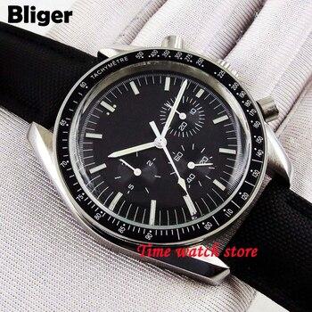 Bliger 40 мм белый циферблат светящийся saphire стеклянный керамический Безель автоматический механизм мужские часы 192