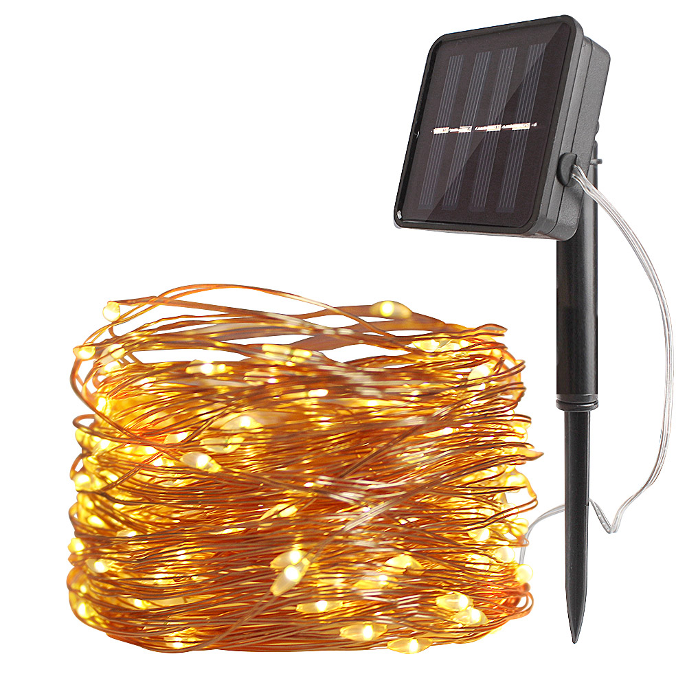 10m/20m 100/200 LED Outdoor Solar Lamp Garden Copper Wire Christmas Garland Street Lighting Solar Powered Waterproof Fairy Light