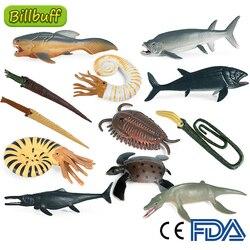 Имитация морского живого животного, мини доисторическая рыба, трехбитный КИТ, экшн-фигурки, Детская познавательная Коллекционная модель, и...