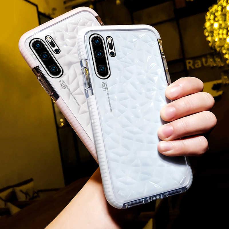 Модный прозрачный чехол LOVECOM с алмазной текстурой для huawei P30 P20 Lite mate 20 Pro Nova 4, мягкая задняя крышка для телефона из ТПУ