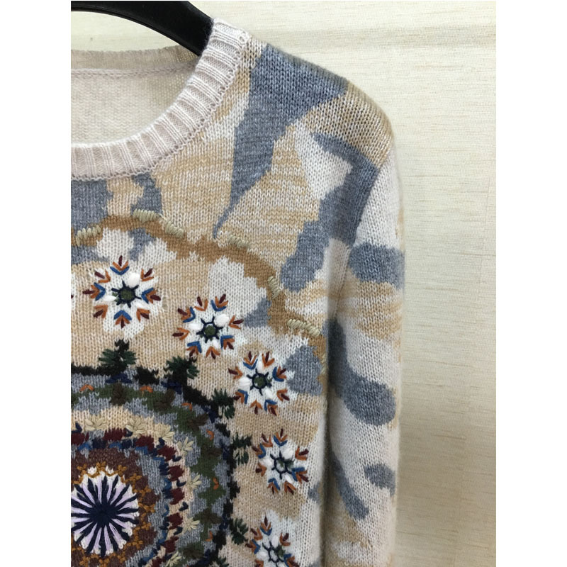 C D Autumn Winter new fashion temperament kaleidoscope hook cashmere long sleeved turtleneck high end quality in Pullovers from Women 39 s Clothing