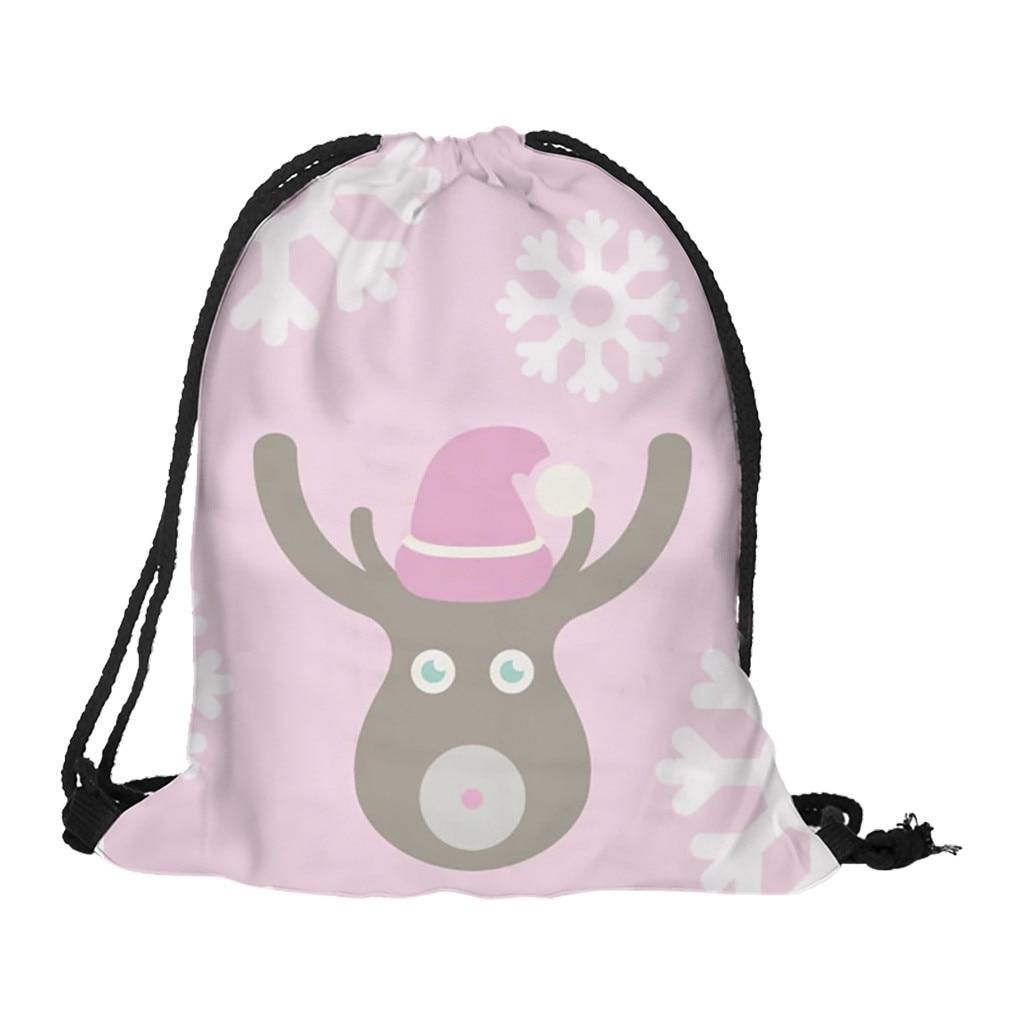 Elegant Women Backpack Exqusite Girls Original Storage Bag Christmas Gift Flower Printed Bag Casual Drawstring Bag Backpack #W