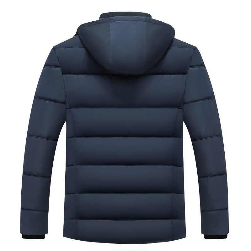 Parkas de invierno para hombre chaqueta a prueba de viento gruesa capa con capucha de lana para hombre abrigo súper cálido abrigo con cremallera para hombre abrigo 2019 sombrero desmontable