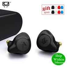 Kz s2 1ba + 1dd tws sem fio bluetooth 5.0 fones de ouvido controle toque aac híbrido earbud fone ruído esporte kz s1 z1 z3 e10