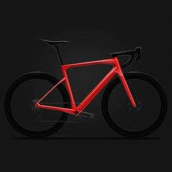 2020 T1000 Karbon Penuh Jalan Sepeda Frameset Mesin Kecepatan X Rangka Sepeda Garpu Seatpost dengan Terpadu Stang