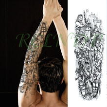 Waterproof Temporary Tattoo Sticker ancient Greek warrior horse spear shield full arm big fake tatto flash tatoo for men women(China)