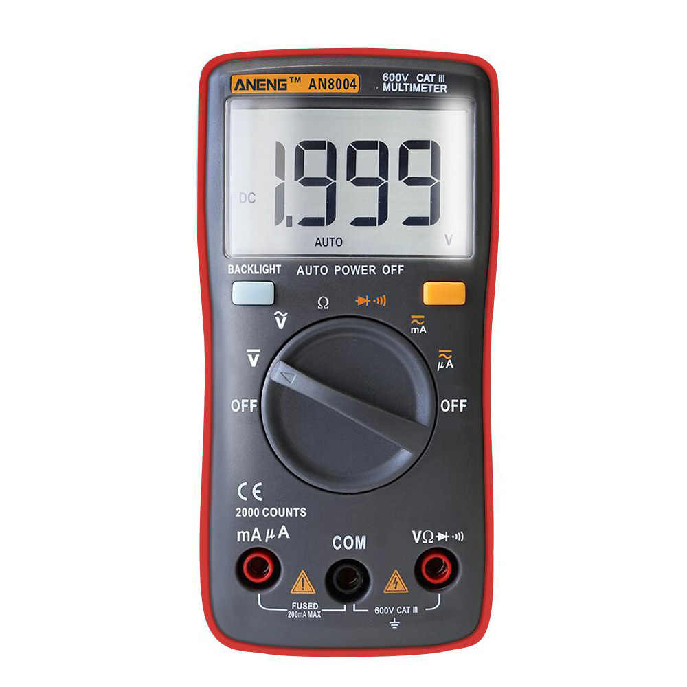 ANENG AN8004 multimetro dijital multimetre profesyonel transistör kapasitör test cihazı esr lcr multimetre analog multimetre gerçek rm