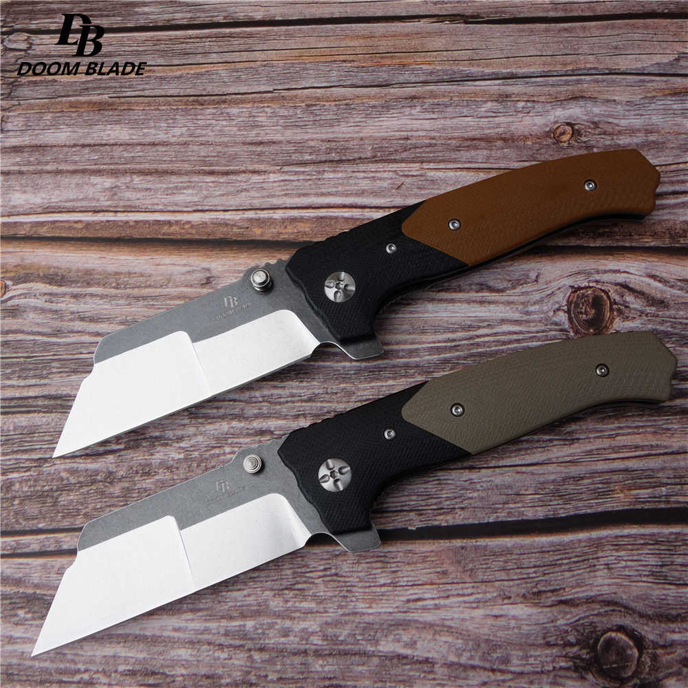 "7.9"" FH11 60-61HRC Knives 2 Color Must Kill Flip Folding Knife Ball Bearing D2 Blade G10 Handle Outdoor Camping Hunting EDC Tool"