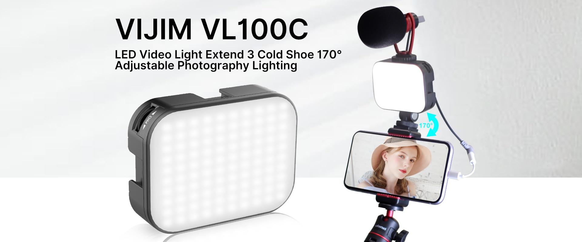 ULANZI VL49 Mini LED Luz de vídeo Batería incorporada 49 LED Lámpara de teléfono llenar Z3Y9 C