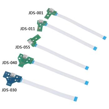 Placa de circuito do soquete de porta de carregamento USB 1pc para 12 pinos JDS 011 030 040 055 conector 001 de 14 pinos para controlador PS4