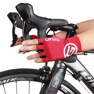 Image 2 - Giyo brise vent cyclisme demi doigt gants anti dérapant vélo moufles course route vélo gant vtt Biciclet Guantes Ciclismo