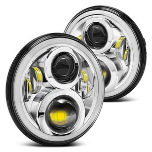 Image 5 - RGB Halo 7 אינץ Led פנס Plug And Play Bluetooth Led עיני מלאך פנס אטום קרן עבור ג יפ רנגלר CJ JK אבזרים