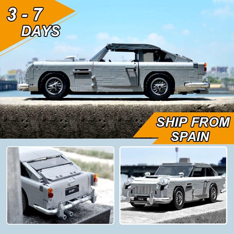 Lepinblocks  21046 James Bond Aston Martin DB5 Classic 007 Car Model Technic 10262  Building Blocks Bricks Educational Toys Gift
