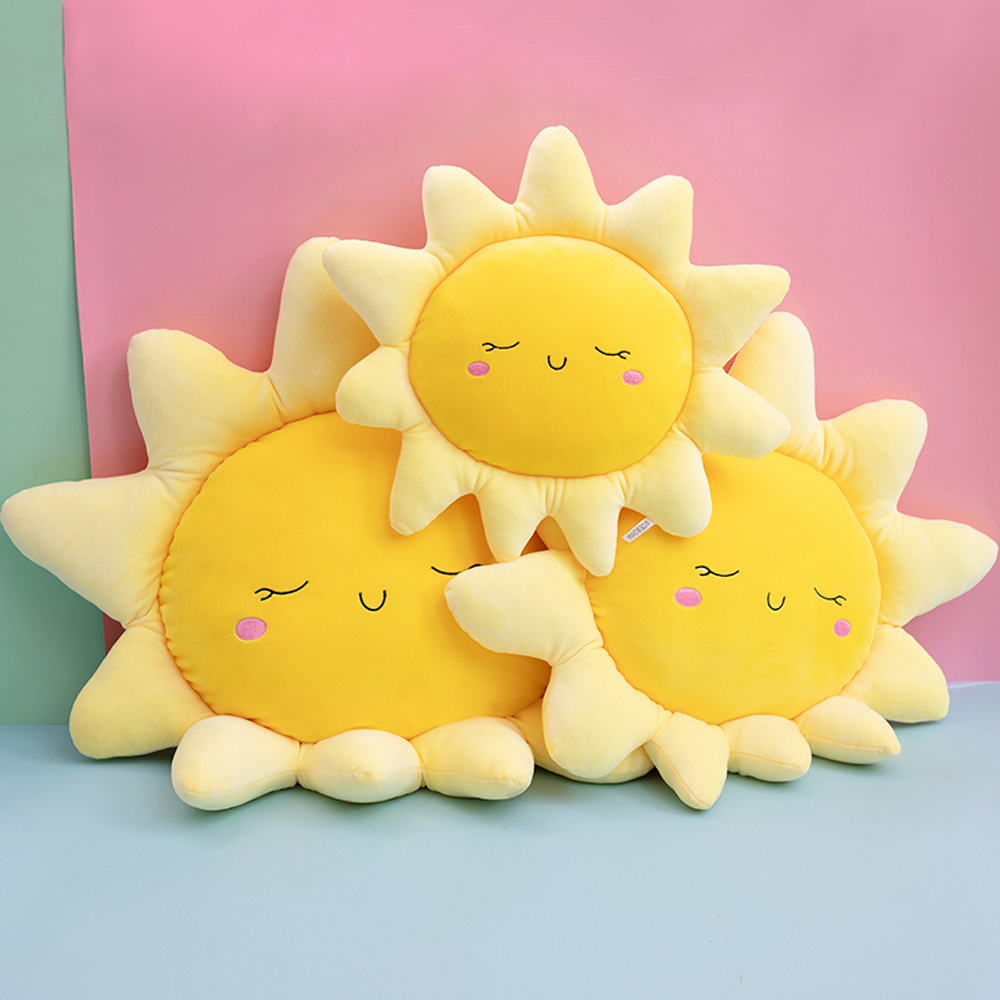 Cartoon Cloud Sun Stuffed Plush Pillow Cushion Soft Sunshine Cloud Plush Toys Car Affiliate Birthday Gift for Kid and Girlfriend
