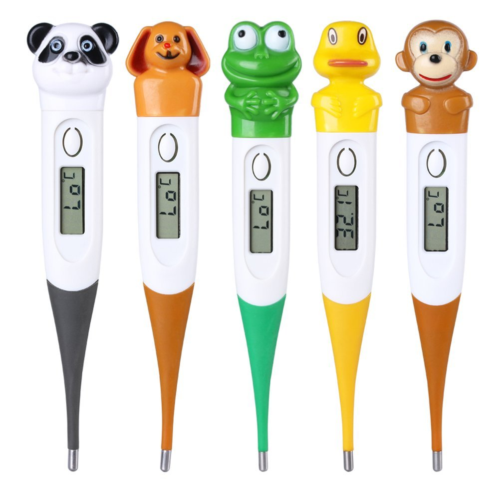 Baby Thermometer Cartoon Animal Mouth Waterproof Portable Thermometer Kids Digitales Thermometer For Infants Adult Human