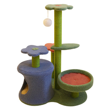 flower-cat-climbing-frame-cactus-cat-nest-tree-bed-house-pole-grabbing-toy-3d-small-cat-platform-tower-pet-supplies