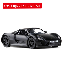 1:36 Scale 918 Sports Model Alloy Car Pull Back and Open The Door Diecasts & Toy Vehicles Model Toys  for Children Kids 1 pcs pull back gliding aircraft mini diecasts model aircraft rotate propeller toy for children random color 4 style bei jess
