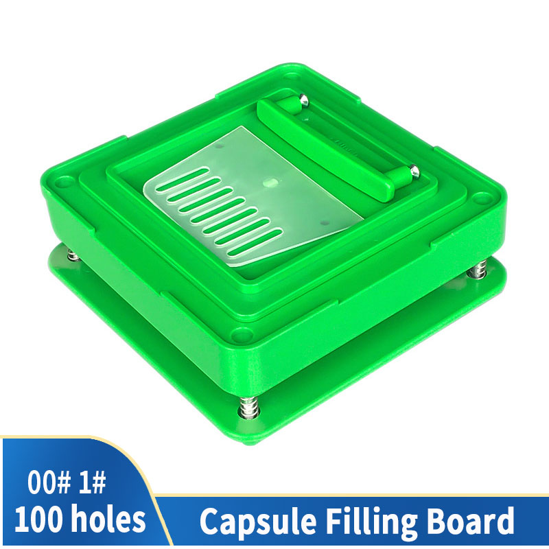00 # 100 Hole Medicinal Powder Manual Food Grade Tool ABS DIY Board Capsule Dispenser Capsule Fast Filling Machine