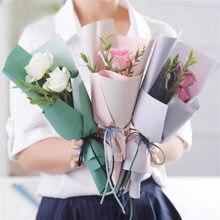 5 sztuk dwustronne podwójny kolor plastikowy wodoodporny kwiat bukiet owijania papierowy kwiat torby kwiaciarnia opakowanie dostaw opakowanie na prezenty