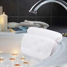 New SPA Bath Pillow 3D Mesh Breathable Bathtub Pillow Bathtub Cushion Bathtub Pillow Bathroom Accessories Soft