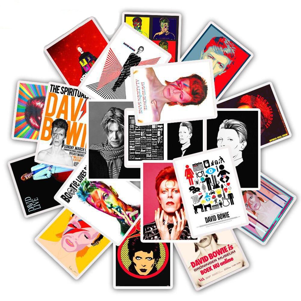25 Pcs Rock Singer DAVID-BOWIE Stickers For Laptop Trunk Fridge Skateboard Rock Music Sticker PVC Waterproof Sticker