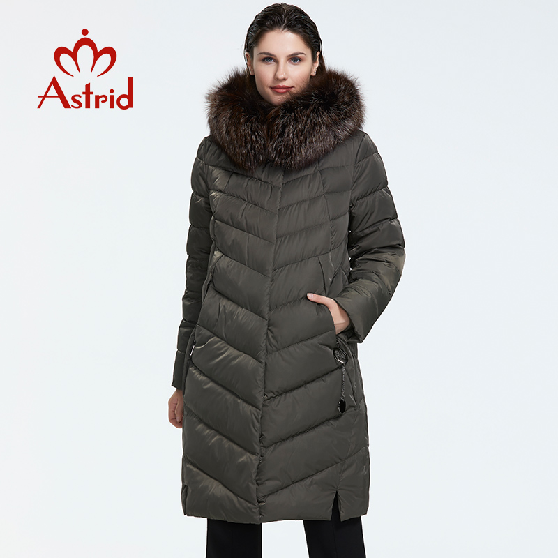 Astrid 2019 Winter new arrival down jacket women with a fur collar loose clothing outerwear quality women winter coat FR 2160 Parkas  - AliExpress