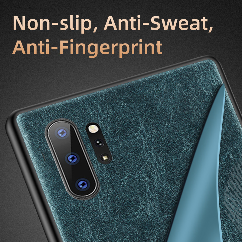 Genuine Oil wax Leather phone case for Samsung galaxy Note 10 8 9 Plus A51 A50 A70 S10 S7 S8 S9 S20 Plus S20 Ultra Shell Cover