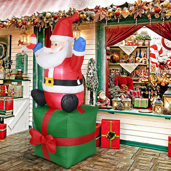 Inflatable Santa Claus Outdoors Christmas Decoration Yard Arch Ornament for Garden SP99