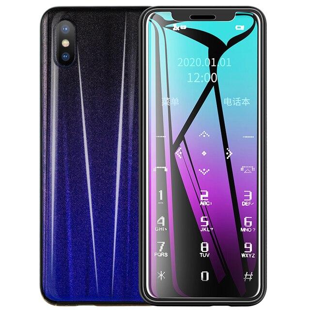 New Ultra-thin Small Cellphone Mini Card Portable Student Mobile Phone Quit Internet Addiction Backup Phones R11 PK AIEK X8 C6