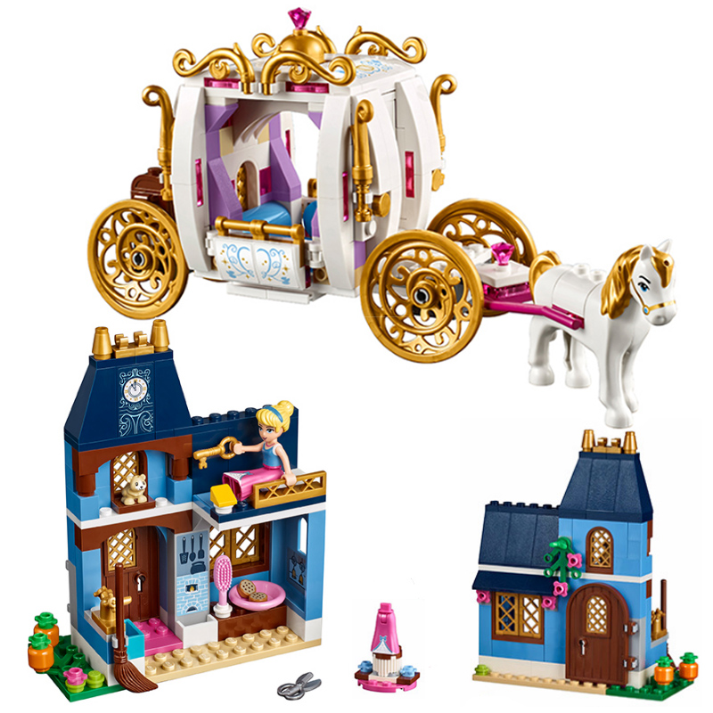 Girls Building Blocks 37002 Duploe Princess Cinderella Pumpkin Carriage Set Toys Compatible lepinblock Friends|Blocks|   - AliExpress