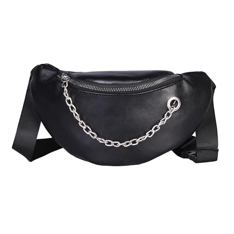 Women Waist Bags Fanny Pack Glitter Belt Chest Bag Small Shoulder Bag Lady Belly Belt Bags Waist Pack Purse(Black)