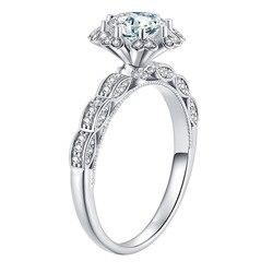 100% prawdziwe 18K biżuteria z białego złota naturalne 2 karaty diament Resizable pierścienie dla kobiet Anillos De niewidoczne ustawienie pierścionki biżuteria