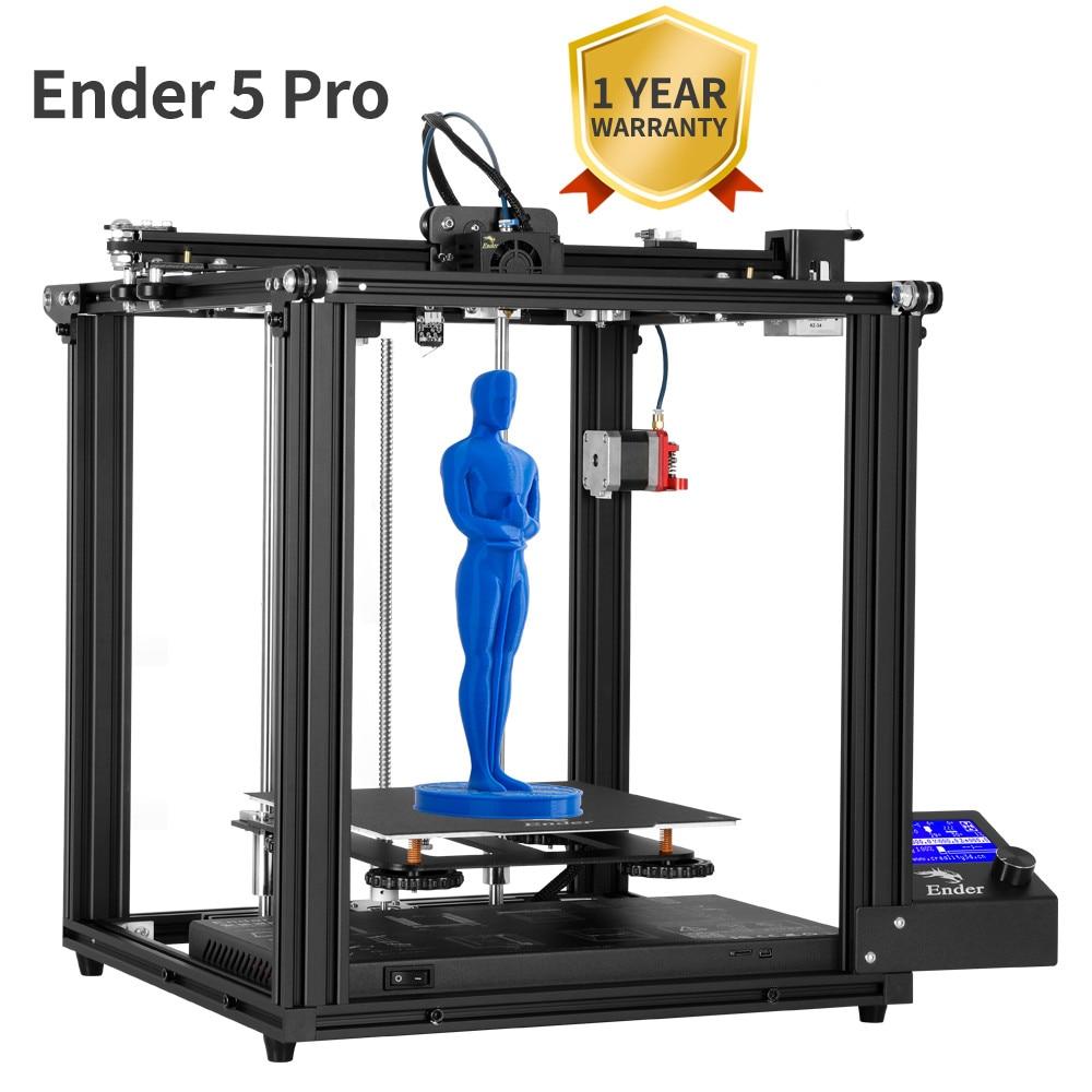 Ender-5 Pro drukarka 3D cicha płyta wstępnie zainstalowana płyta magnetyczna wyłączanie zasilania wznów zamkniętą strukturę zasilacz MeanWell