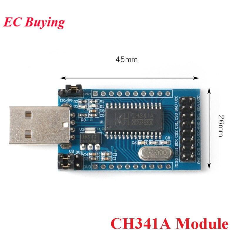Ch341a programador usb para uart iic spi i2c ttl conversor de porta paralela módulo a bordo da lâmpada indicador de operação