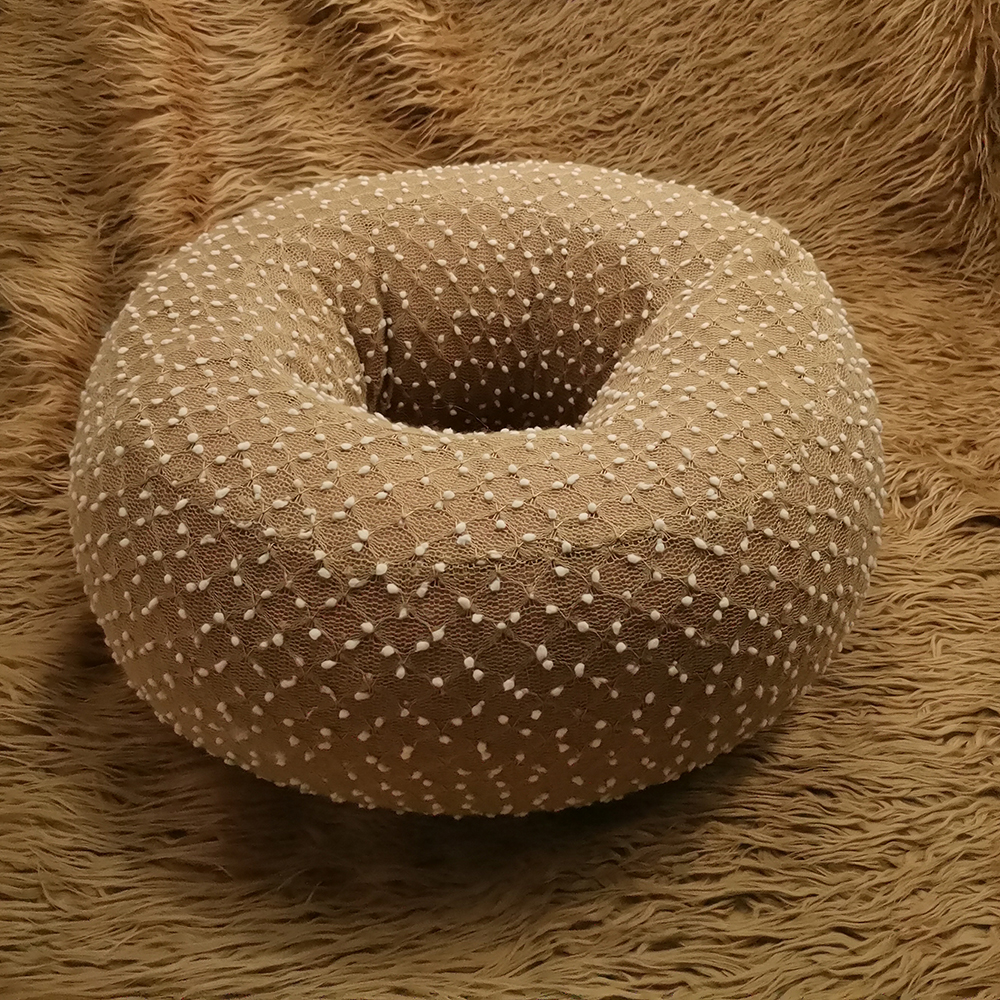 Faux Fur 150x100cm Newborn Size Blanket Backdrop+Soft Small Ball Bobble Donut Style Basket For Newborn Photography Props