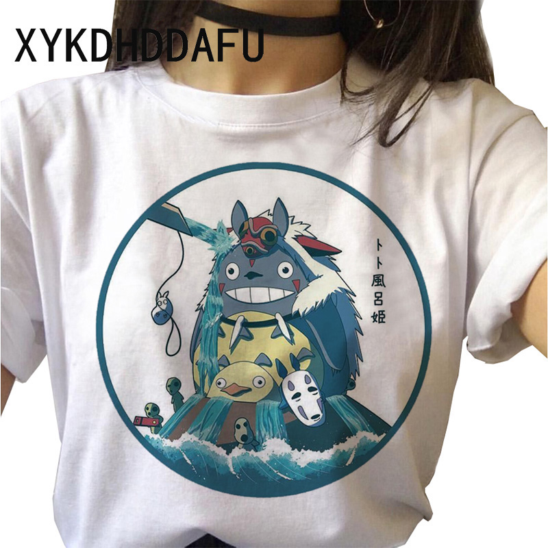 H31ccfb76cd824d828b20aef374262c044 - Totoro T Shirt Women Kawaii Studio Ghibli Harajuku Tshirt Summer Clothes Cute Female ulzzang T-shirt Top Tee japanese Print