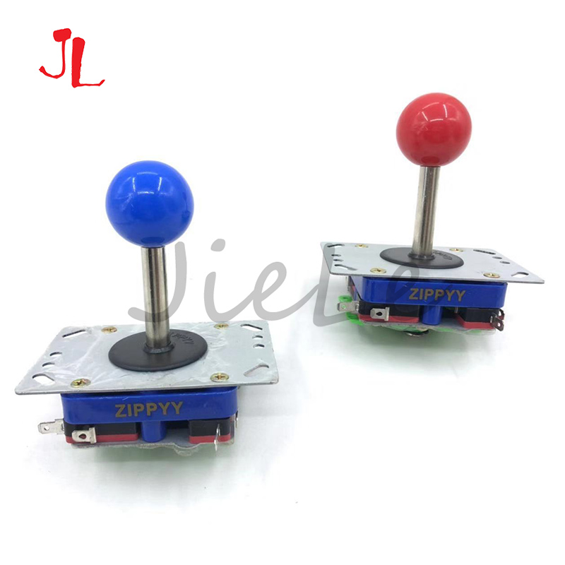 Long Handle Zippy Arcade Joystick 5 Colors 34mm Switching Top Ball 2/4/8 Way Classic Arcade Stick For PacMan