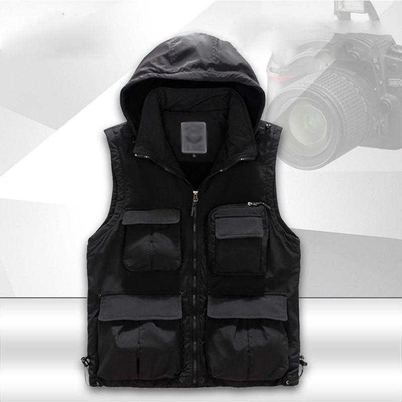 Al aire libre hombres Multi-Bolsillo mantener caliente chaleco masculino chaleco multifunción abrigos de carga de secado rápido campamento senderismo ocio chalecos fotografía