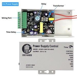 Image 2 - Controlador da fonte de alimentação, controlador da fonte de alimentação do controle de acesso dc 12v 3a/5a ac90 ~ 260v entrada sem/saída nc para todos os tipos de bloqueio com atraso de tempo