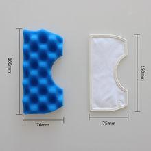Aspirador de pó esponja filtro de poeira espuma de borracha peças de limpeza esponja filtro de poeira azul n50